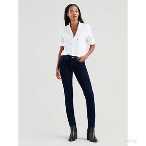 Levi's 311 Shaping Skinny Mid Rise Jeans 6 Long